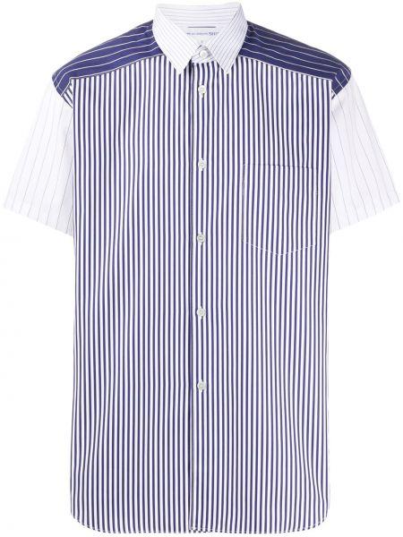 Koszula krótkie z krótkim rękawem w paski z paskami Comme Des Garcons Shirt