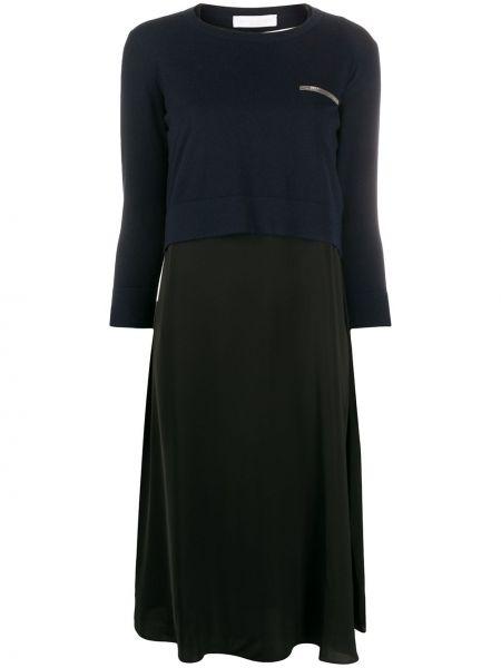 Платье в рубчик шифоновое Fabiana Filippi