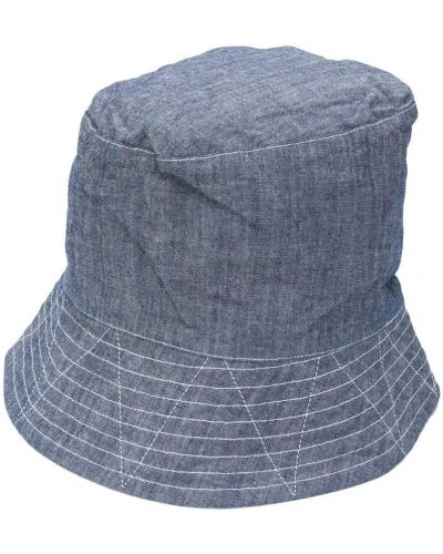 Синяя шляпа с широкими полями Engineered Garments