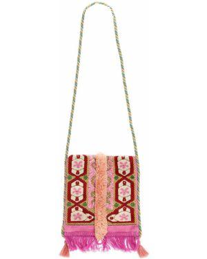 Ażurowa różowa torebka mini Malaga4