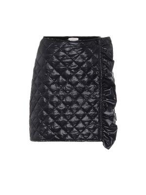 Czarna spódnica mini pikowana Moncler