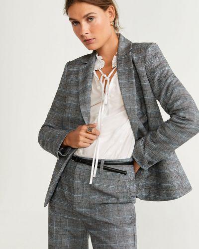 Классический пиджак с подкладкой серый Mango