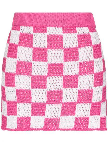 Прямая юбка мини в клетку с поясом Frankie's Bikinis