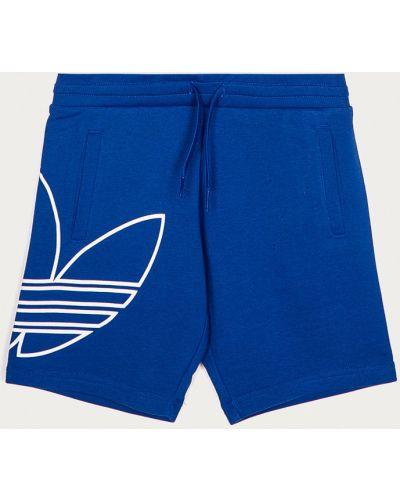 Прямые хлопковые шорты с карманами Adidas Originals