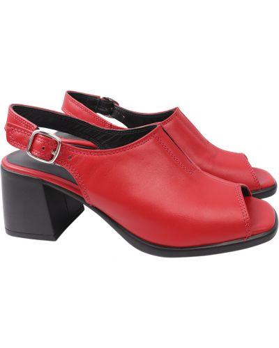Кожаные босоножки - красные Mario Muzi