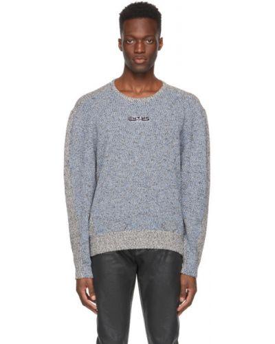 Czarny długi sweter bawełniany z długimi rękawami Eytys