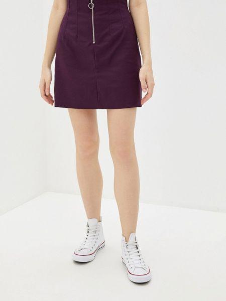Фиолетовая юбка карандаш свободного кроя с рукавом 3/4 Befree