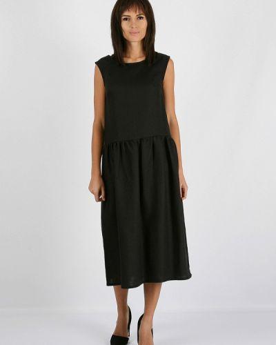 Прямое черное платье А-силуэта Morandi