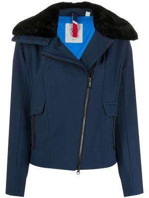 Прямая синяя куртка на молнии из искусственного меха Rossignol