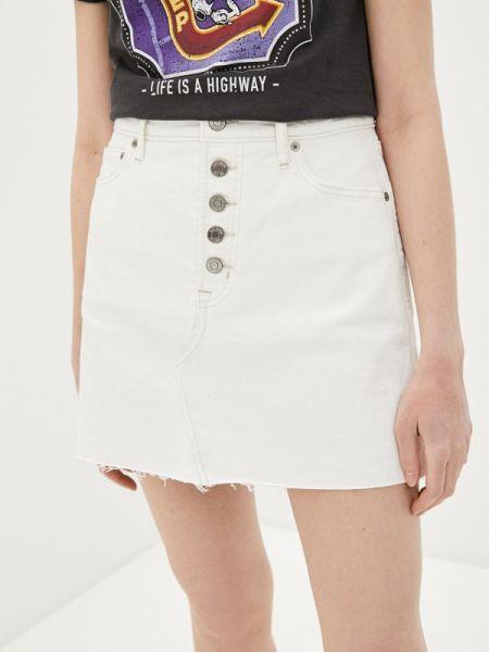 Белая джинсовая юбка Gap