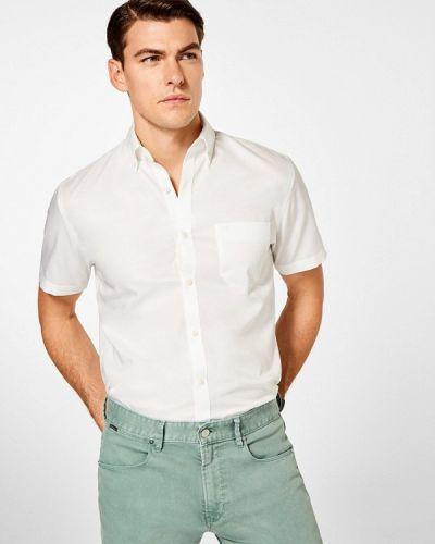 Белая рубашка с короткими рукавами Pedro Del Hierro