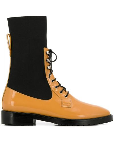 Черные ботинки на каблуке на каблуке Leandra Medine