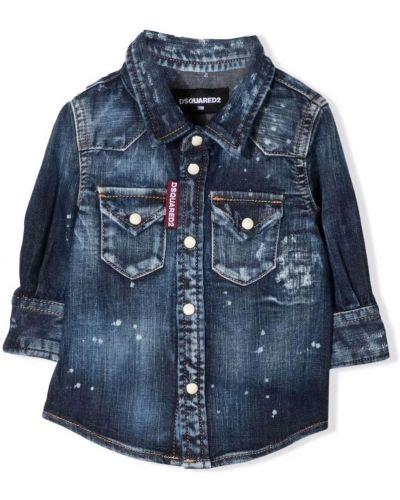 Koszula jeansowa - niebieska Dsquared2
