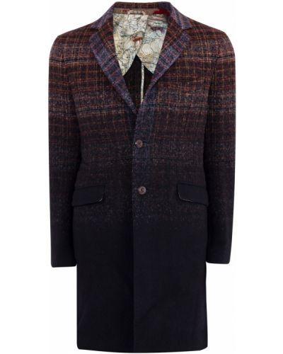 Пальто классическое однобортное прямое Etro