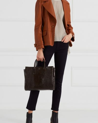 Пиджак кожаный на пуговицах Acne Studios