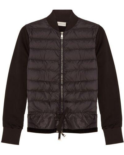 Куртка черная из плотной ткани Moncler