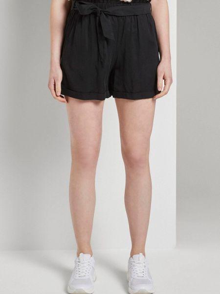 Повседневные черные джинсовые шорты Tom Tailor Denim