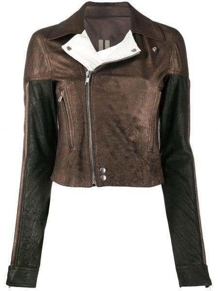 Кожаная куртка байкерская на молнии Rick Owens