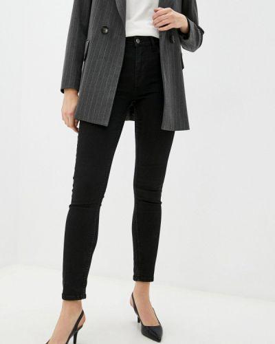 Черные зимние зауженные джинсы Mexx
