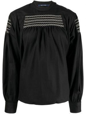 Блузка с вышивкой - черная Sofie D'hoore