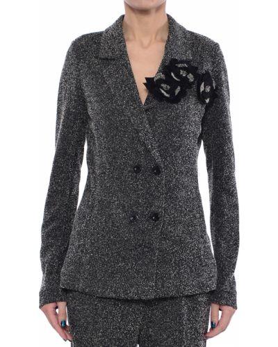 Пиджак из вискозы - серый Twin-set