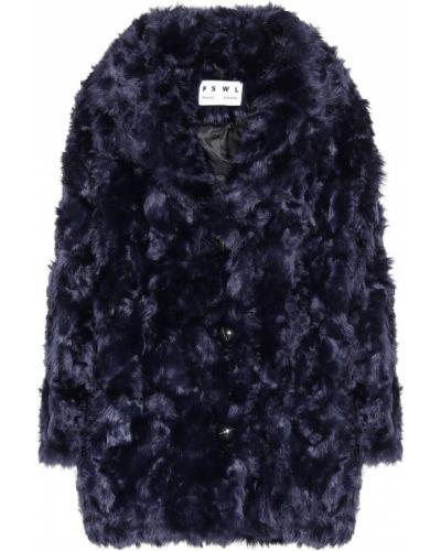 Пальто плюшевое синее Proenza Schouler