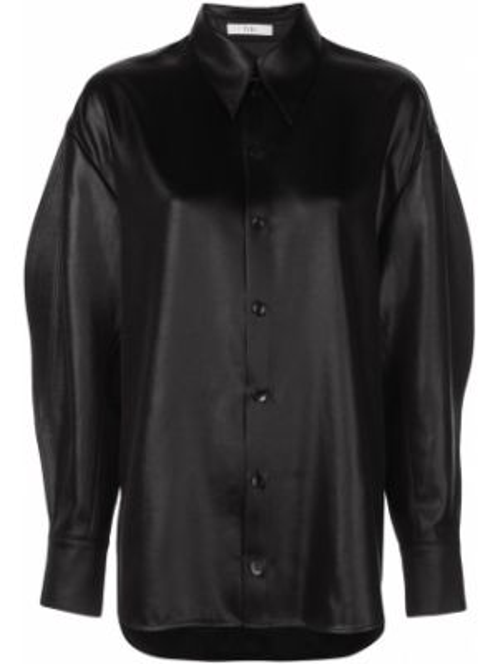 Klasyczna koszula - czarna Tibi