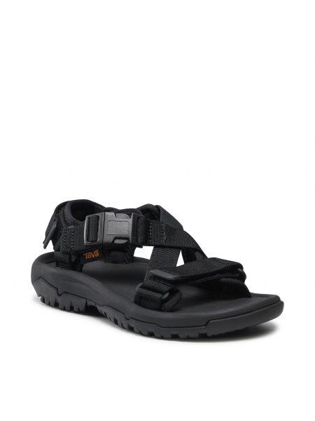 Czarne sandały na lato Teva