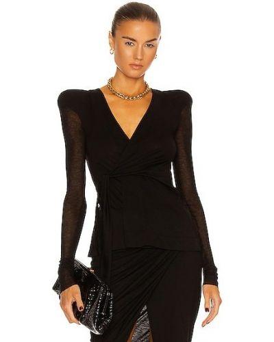 Трикотажная ватная черная куртка Rick Owens Lilies