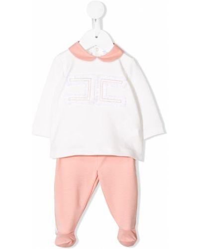 Пижама белая розовый Elisabetta Franchi La Mia Bambina