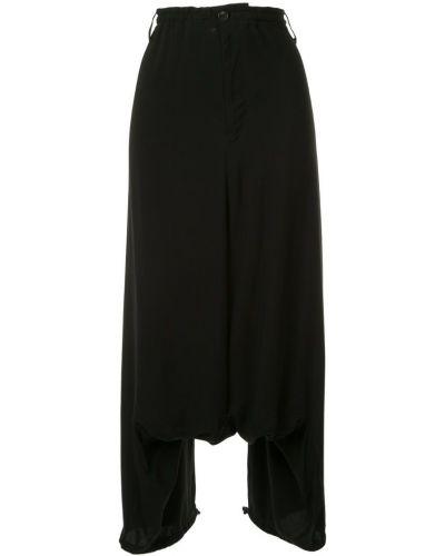Укороченные брюки с завышенной талией с драпировкой Yohji Yamamoto