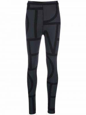 Czarne spodnie z printem Toteme