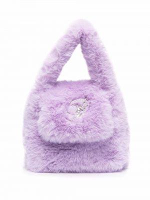 Фиолетовая сумка с логотипом Blumarine