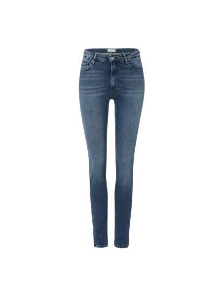 Niebieskie jeansy bawełniane z cekinami Armedangels