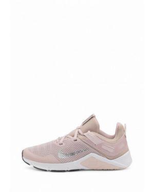 Бежевые кожаные кроссовки Nike