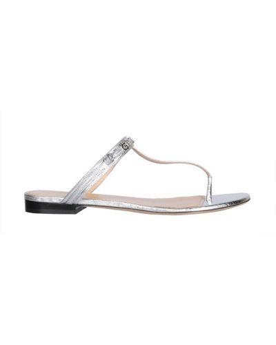 Sandały skórzane - szare Givenchy