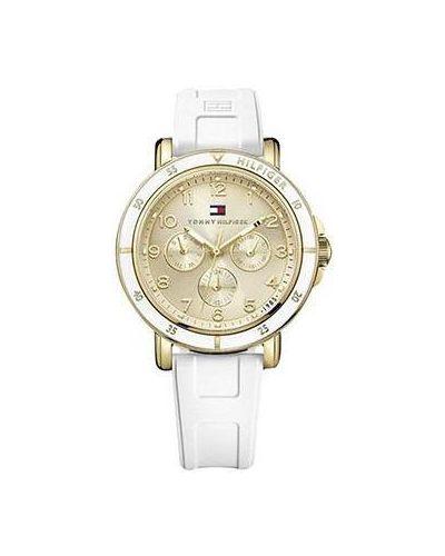 Кварцевые часы водонепроницаемые с силиконовым ремешком Tommy Hilfiger