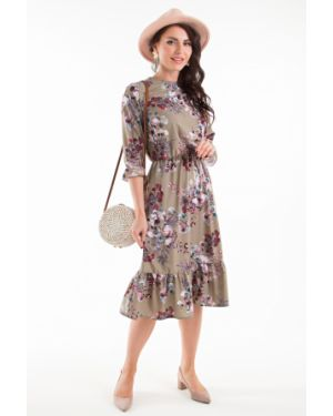 Платье с цветочным принтом из штапеля Taiga