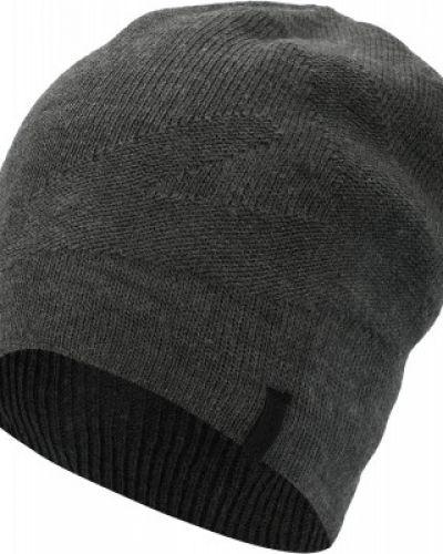 Акриловая серая спортивная шапка двусторонняя Demix