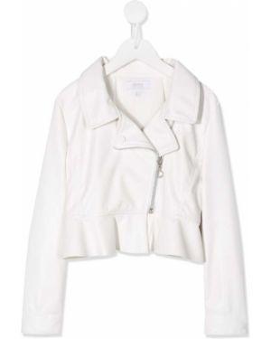 Biała długa kurtka bawełniana z długimi rękawami Aletta