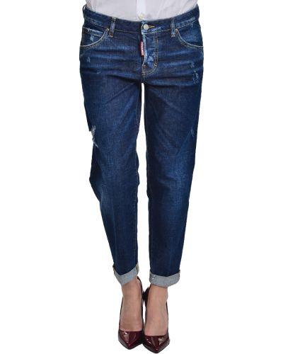 Хлопковые джинсы - синие Dsquared2