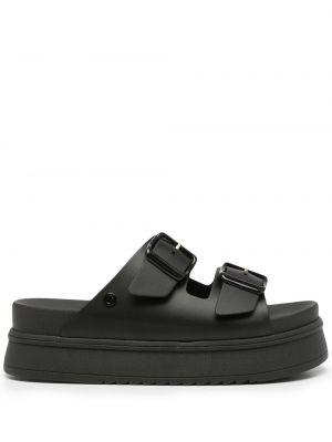 Czarne sandały peep toe Carvela