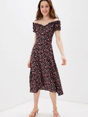 Платье с открытыми плечами - черное Imocean