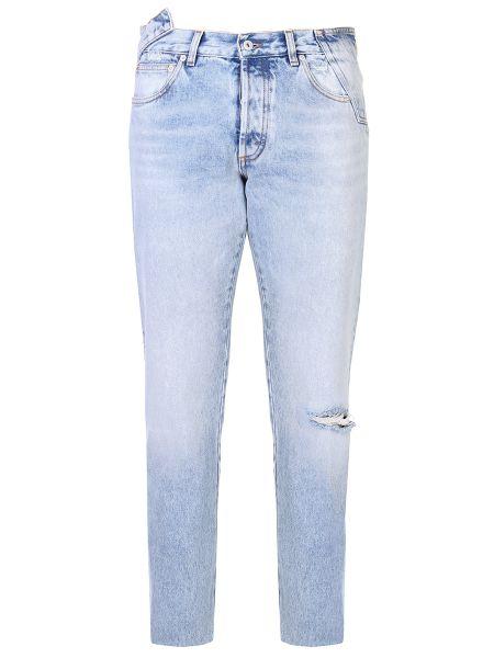 Хлопковые джинсы с карманами с нашивками на пуговицах Heron Preston