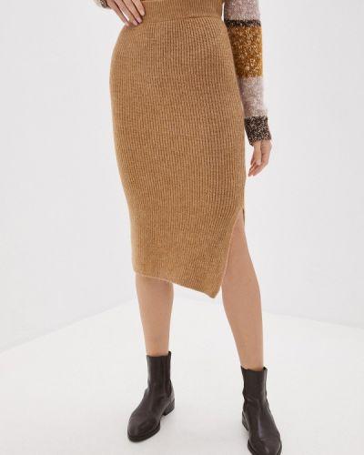 Бежевая юбка узкого кроя Trendyol