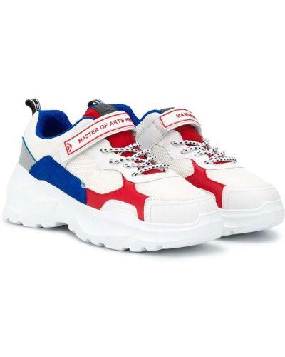 Кожаные массивные белые кроссовки Moa Kids