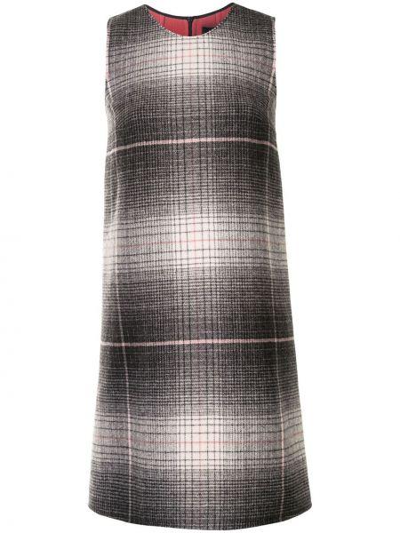Прямое вязаное серое платье без рукавов Paule Ka