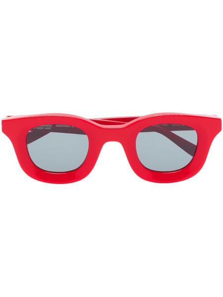 Акриловые красные солнцезащитные очки квадратные Thierry Lasry