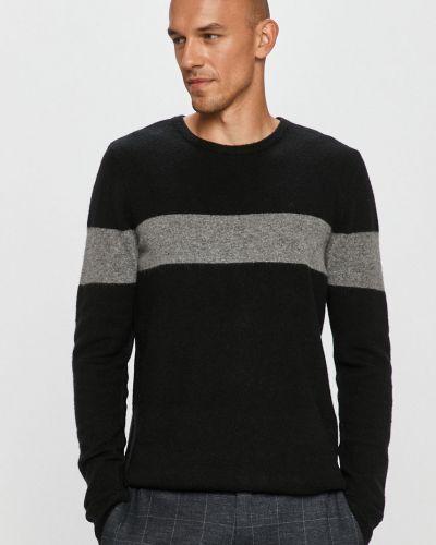 Czarny sweter wełniany Clean Cut Copenhagen