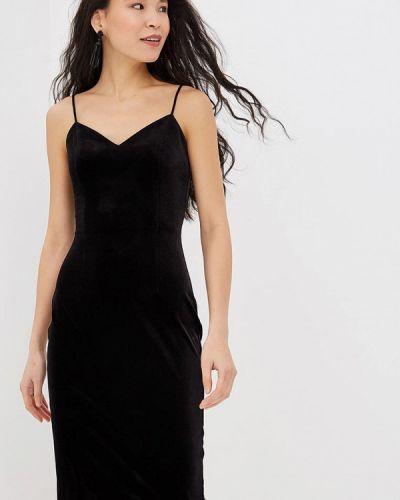 Вечернее платье осеннее черное Ruxara